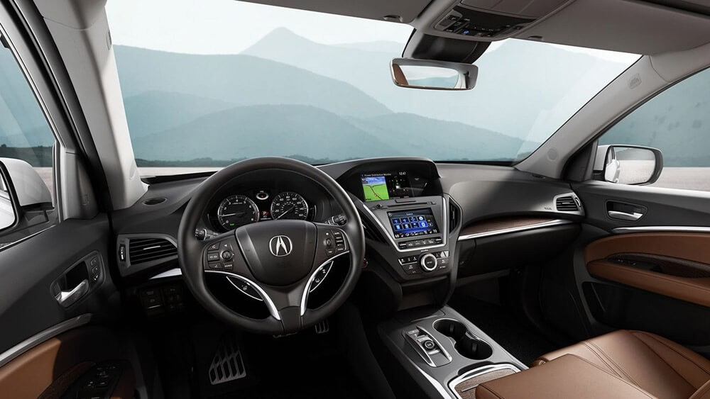 2017 Acura Mdx Advance Espresso Interior Dash Acura North Scottsdale