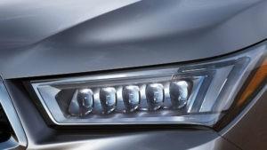 2017 Acura MDX headlights up close