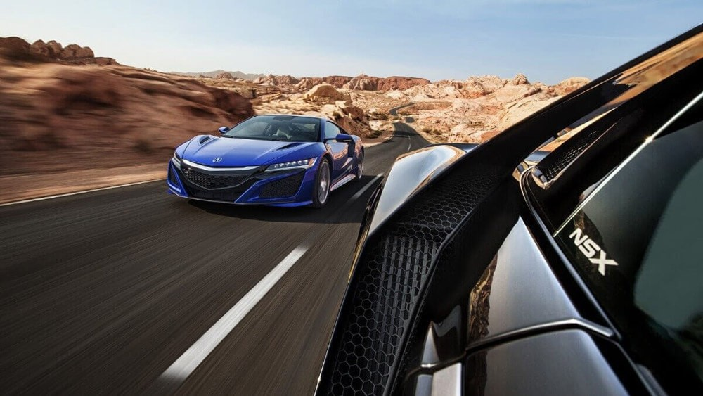 2017 Acura NSX on the road