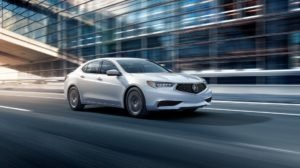 2018 Acura TLX white exterior model