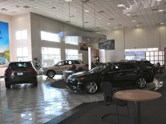Acura North Scottsdale dealership showroom