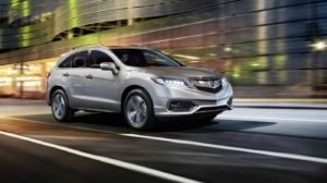 2018 Acura RDX night driving
