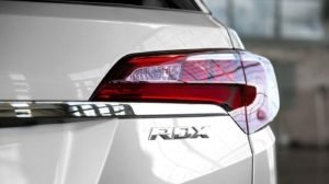 2018 Acura RDX tail light up close