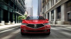 2018 Acura RLX red exterior
