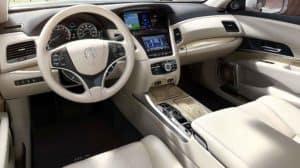 2018 Acura RLX front interior