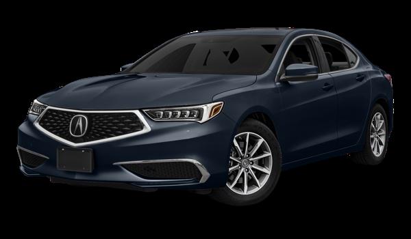 2018 Acura TLX white background
