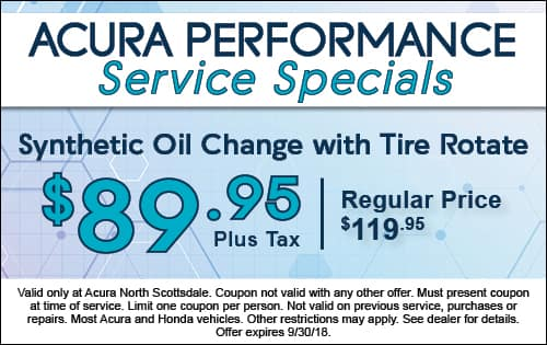 Synthetic Oil Change Special With Tire Rotate Acura North Scottsdale - Acura oil change coupons
