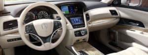 2018 Acura RLX tan interior