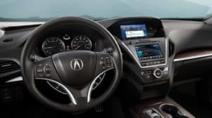 Acura MDX 2019 front interior features
