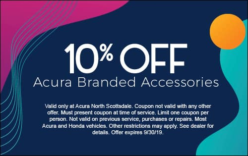 10% off Acura Branded Accessories