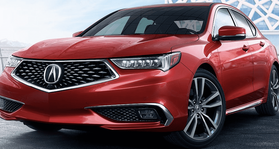 Red Acura TLX