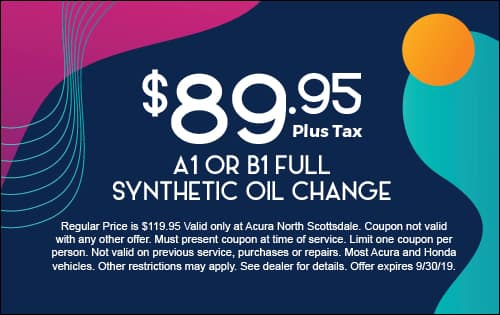A1 or B1 Full Synthetic Oil Change