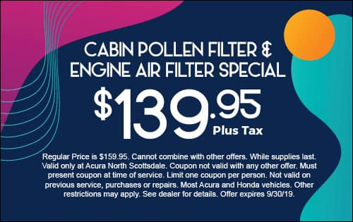 Cabin Pollen Filter and Engine Air filter Special