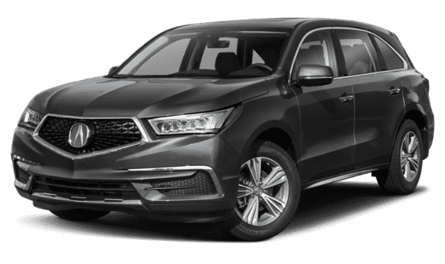 Gray 2019 Acura MDX turned sideface