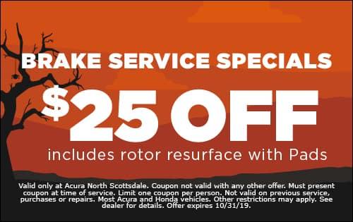 Brake Service Specials $25 off