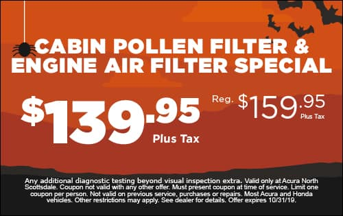 Cabin and Air Filter Special