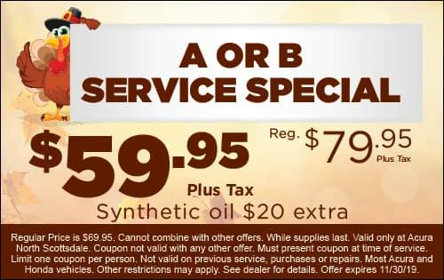 A or B Service Specials