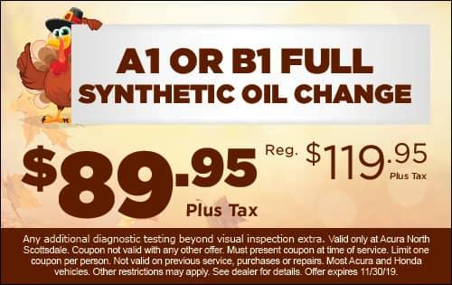 full synthetic oil change