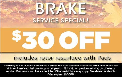 Brake Service Special - $30 Off