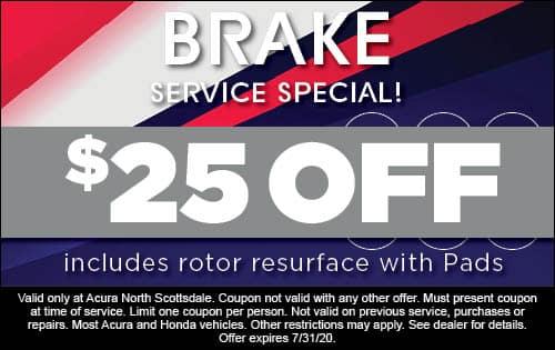25 off brake service
