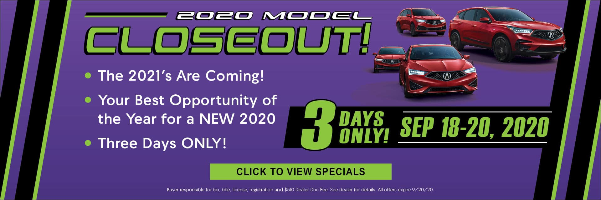 2020 Model Closeout