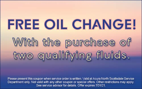 Free oil change! With the purchase of 2 qualifying fluids