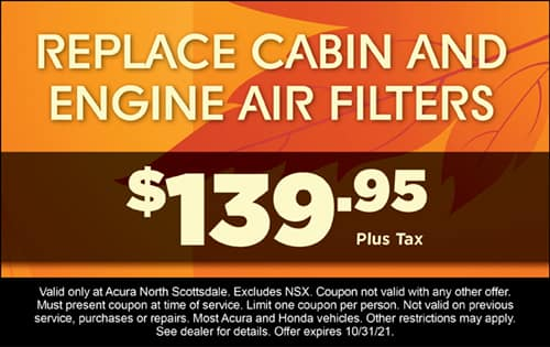 Replace cabin & engine air filters $139.95