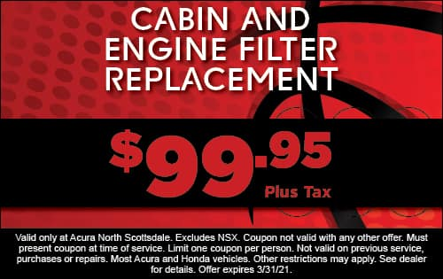 Cabin & Engine Air Filter $99.95 plus tax