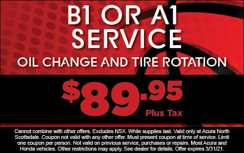 B1 or A1 Service: Oil Change & Tire Rotation $89.95 plus tax
