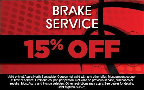 Brake Service 15% Off