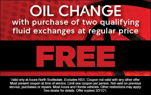Oil change with purchase of two qualifying fluid exchanges at regular price free