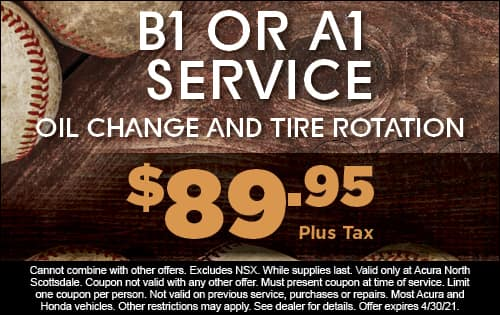 B1 or A1 Service - Oil change and tire rotation