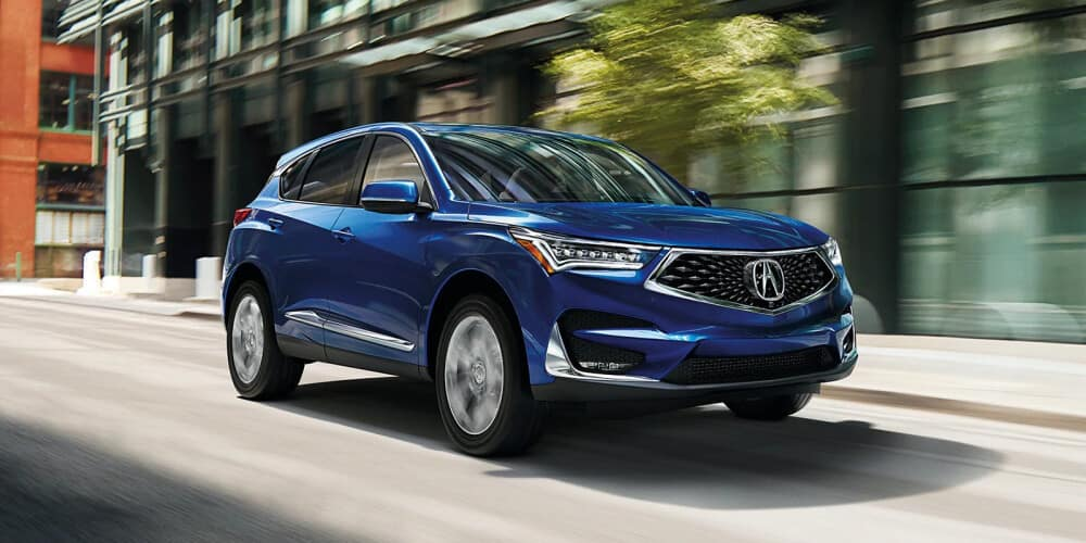 The 2021 Acura RDX with blue exterior