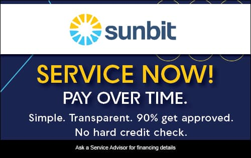 Service now! Pay over time