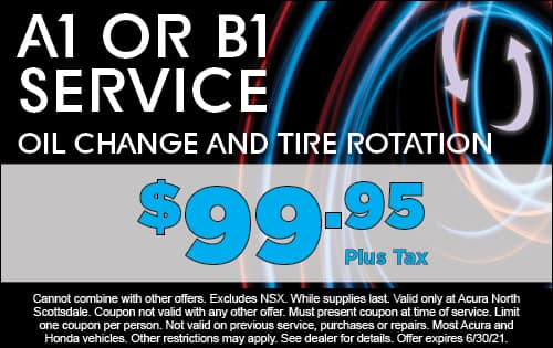 A1 or B1 Service Oil Change & Tire Rotation