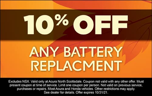 10% off any battery replacement.