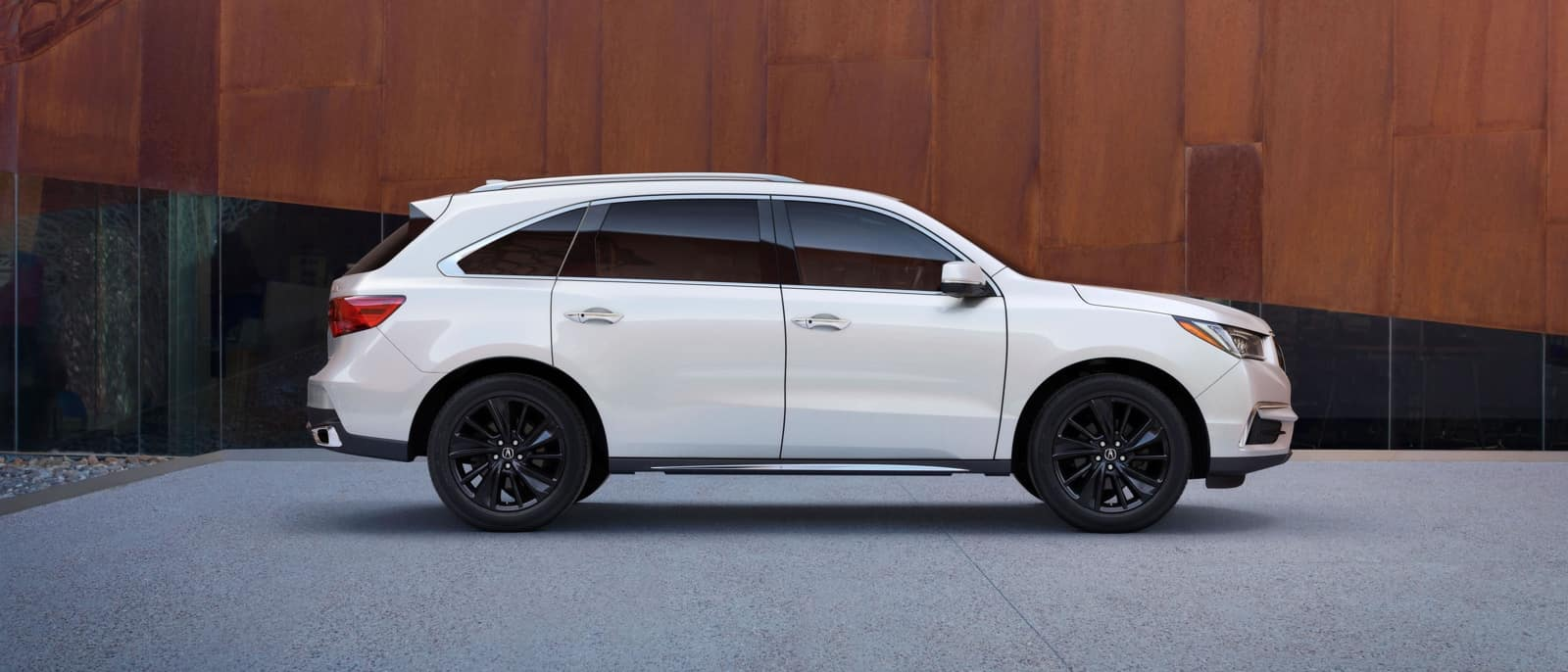 2018 Acura MDX white exterior side view