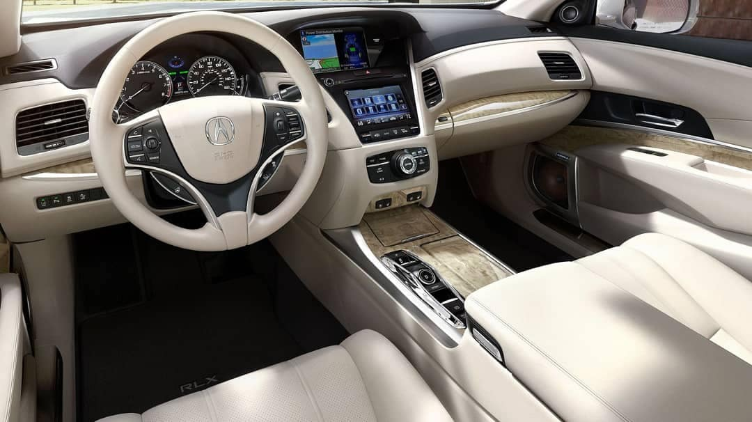 Interior cabin of 2019 Acura RLX