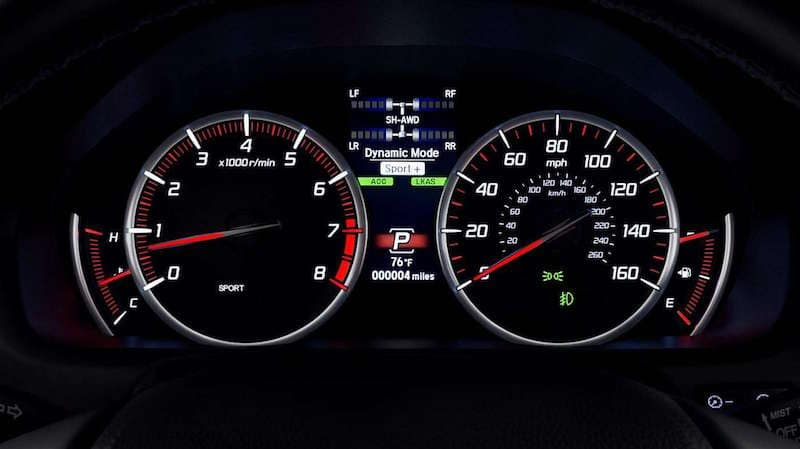 TLX spedometer screen
