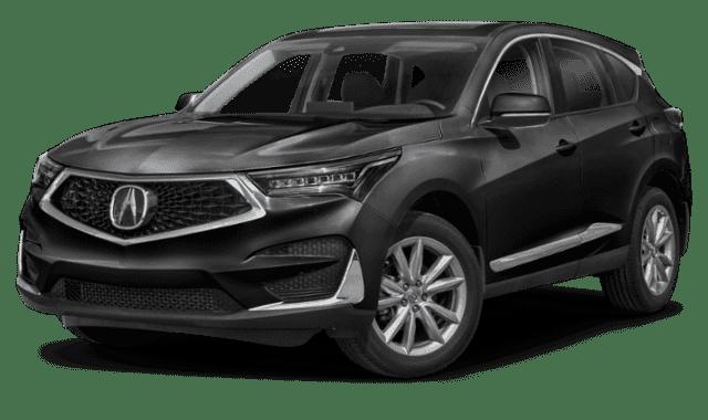 Black 2020 Acura RDX Sideface