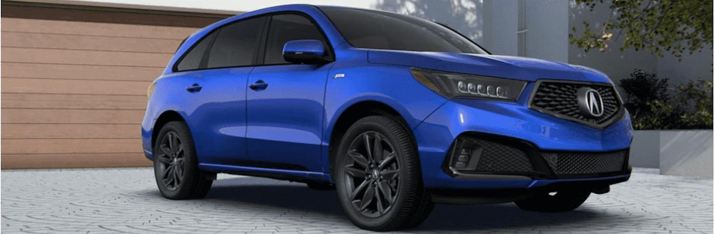 2020 Blue Acura MDX