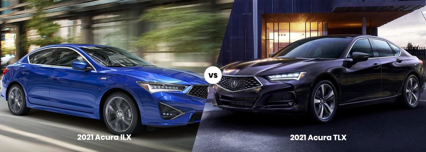 2021 Acura ILX vs TLX