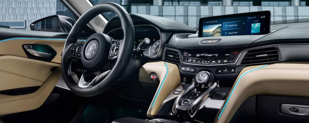Interior view of the 2021 Acura TLX