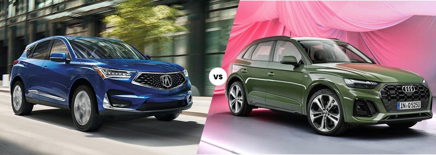 Image comparing the Acura RDX vs. Audi Q5