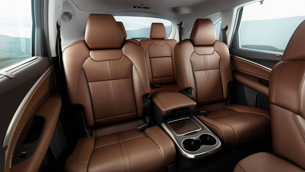 Acura MDX rear seat with espresso leather