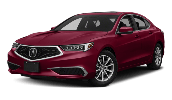 2018 Acura TLX white background