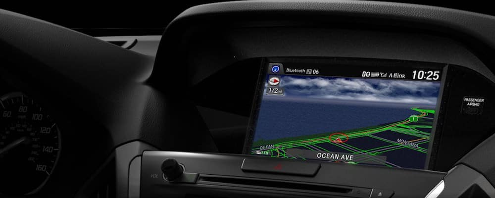 Close up of MDX navigation screen