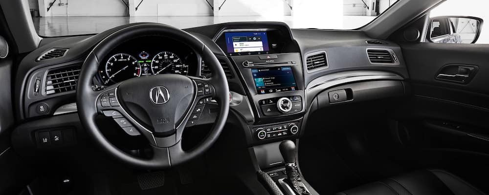 Black Acura ILX interior and dashboard
