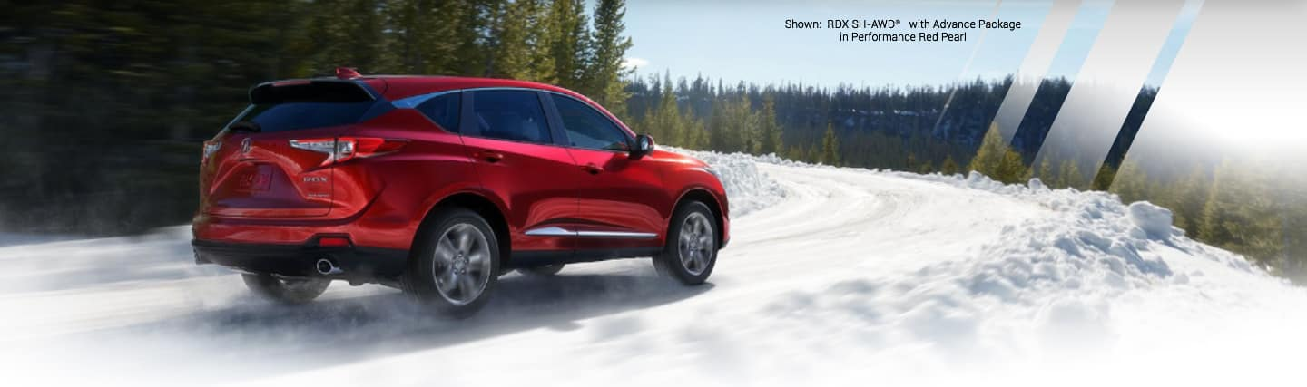 Shown:RDX SH-AWD with Advance Package in Performance Red Pearl