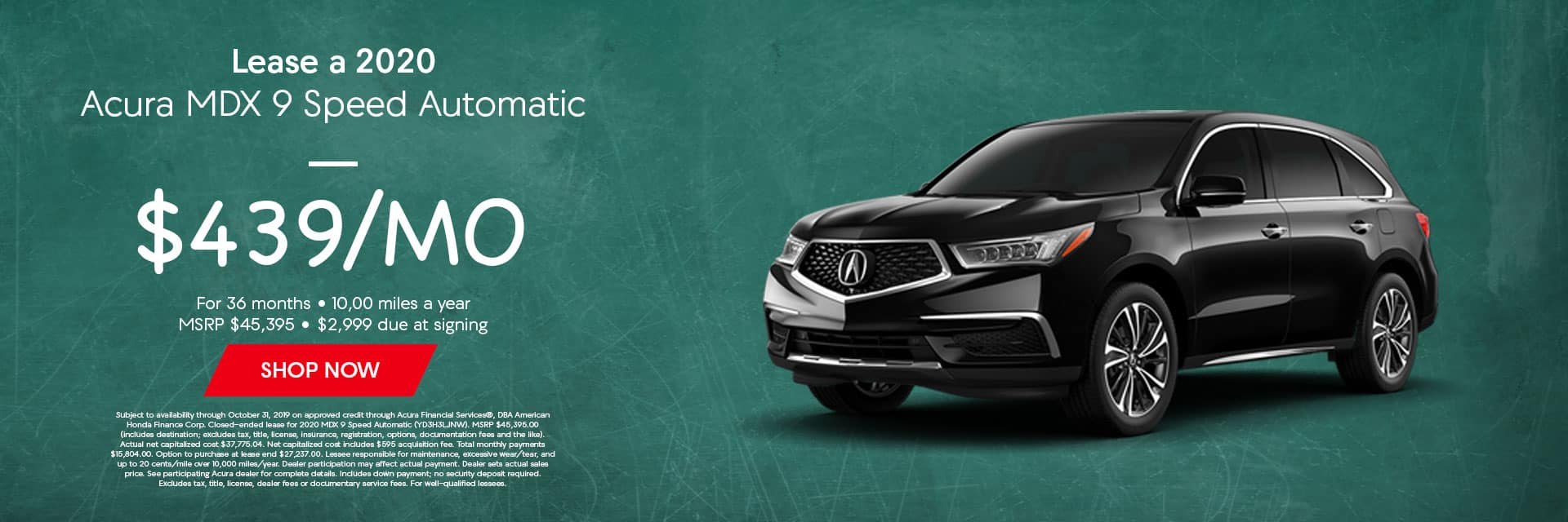 2020 MDX 9 Speed Automatic